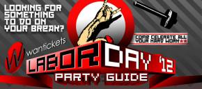 Wantickets Labor Day 2012 Party Guide Preview