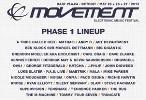 Movement Electronic Music Festival (Detroit, MI) announces first phase lineup Preview