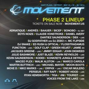 Movement Electronic Music Festival (May 24-26 - Detroit, MI) reveals Phase 2 lineup! Preview