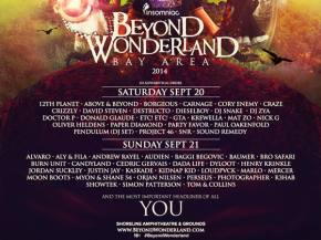 Watch the Beyond Wonderland (Bay Area - Sept 20-21) trailer, scope day-by-day schedule Preview