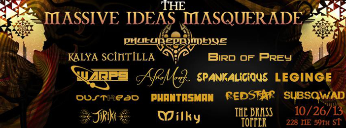 The Massive ideas Masquerade - Top 10 Halloween 2013 EDM Events